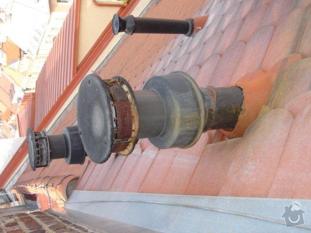 Opravu střechy činž.domu proti zatékání: 3