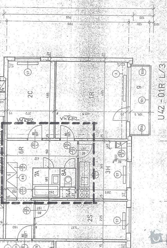 Kompletní rekonstrukce panelové bytu 3+1: plan