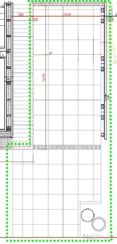 Sazení obrubníků a pokládka betonové dlažby: Dlazba_schema