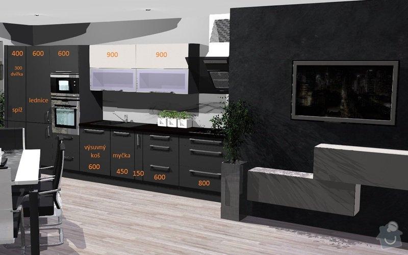 Zhotovení kuchyně na míru: Linka_rozvrzeni