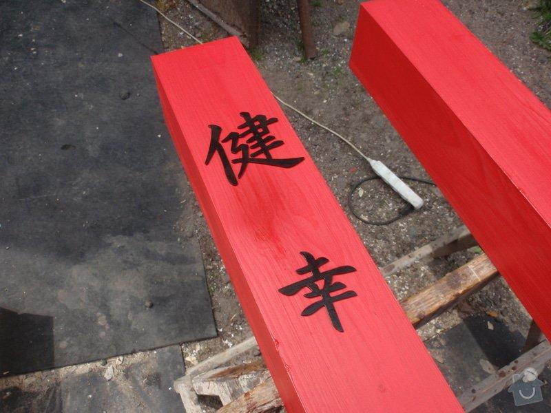 Stavba zahradní Japonské brány TORII: brana_torii_06