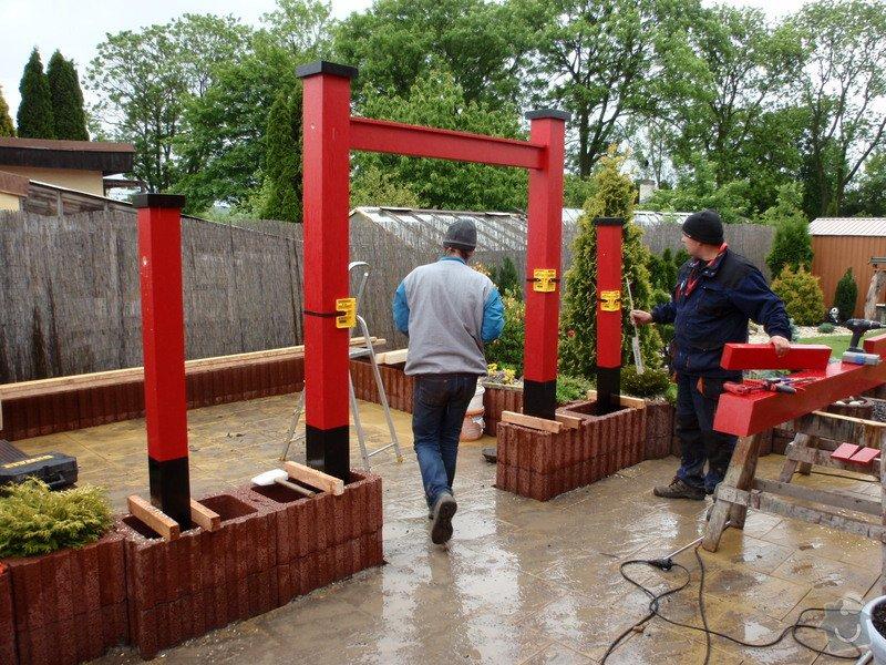 Stavba zahradní Japonské brány TORII: brana_torii_11