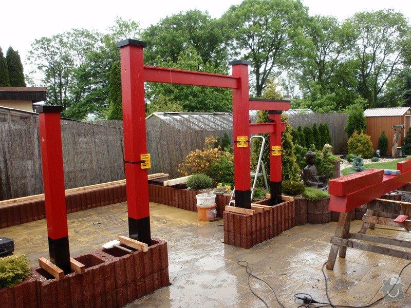Stavba zahradní Japonské brány TORII: brana_torii_13