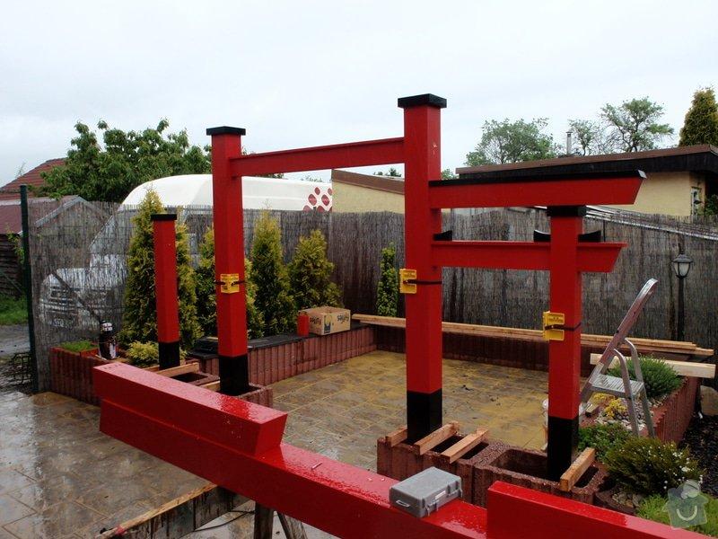 Stavba zahradní Japonské brány TORII: brana_torii_14
