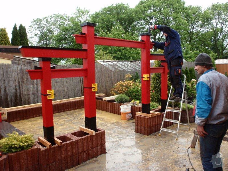 Stavba zahradní Japonské brány TORII: brana_torii_15