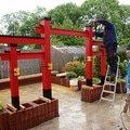 Stavba zahradni japonske brany torii brana torii 15