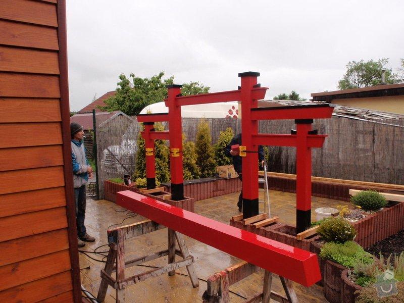 Stavba zahradní Japonské brány TORII: brana_torii_16