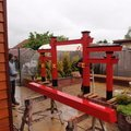 Stavba zahradni japonske brany torii brana torii 16
