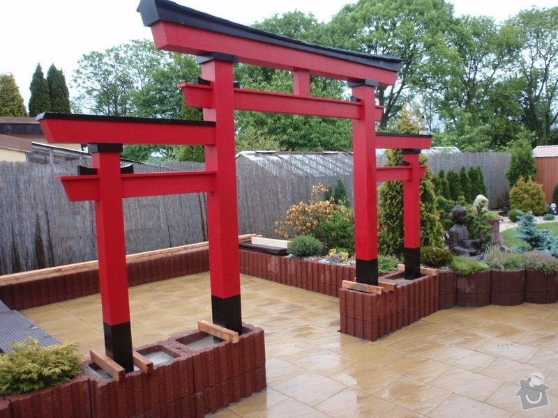 Stavba zahradní Japonské brány TORII: brana_torii_17