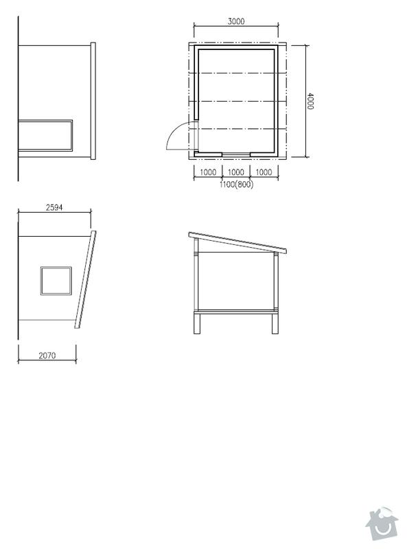 Zahradní domek - kůlna: domek