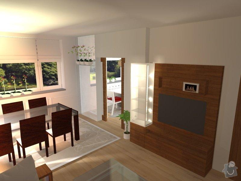 Byt 3+1, realizace interiéru na klíč : vitrina