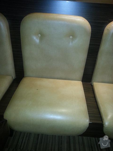 Přečalounění sedáků a opěradel v baru: sedaky