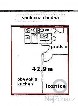 Rekonstrukce bytového jádra (umakart): pudurys