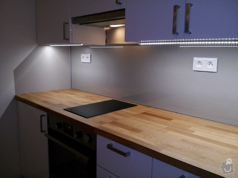 Rozvody v kuchyni včetne zapojení spotřebičů: CAM00411