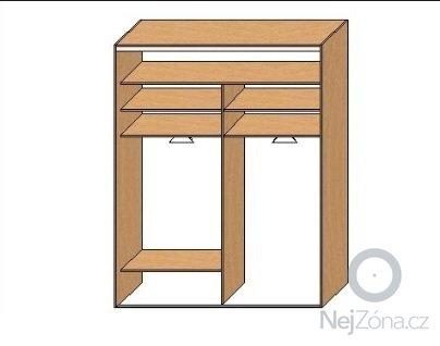Vestavná šatní skříň: skrin