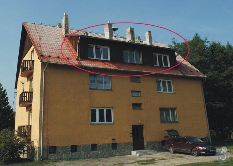 Pokrývačské práce cca 30m2: strecha