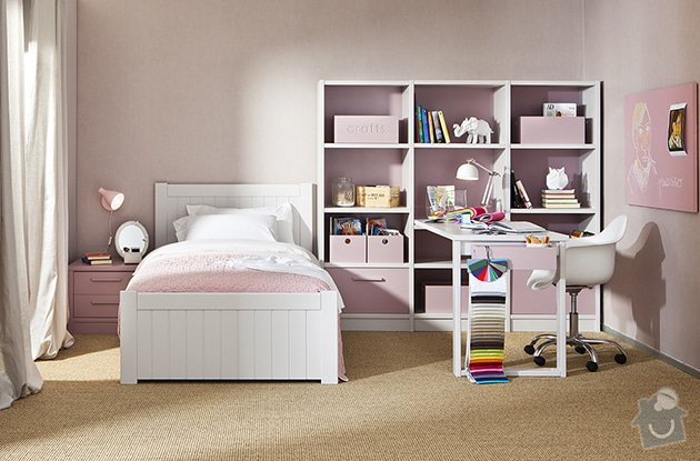 Dětská postel 90/200 bílá: bila_postel_90x200