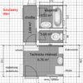 Rekonstrukce koupelny zachodu a technicke mistnosti soucasny stav