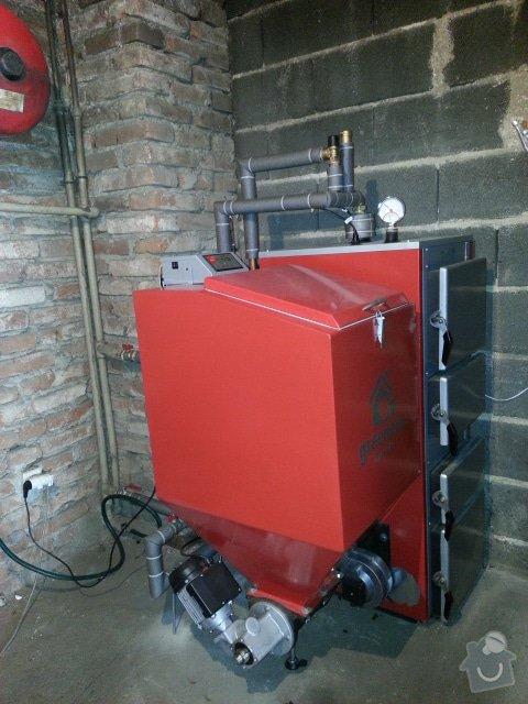 Prodej a připojení Automatického kotle Greeneco 25 kw: 20141019_115356