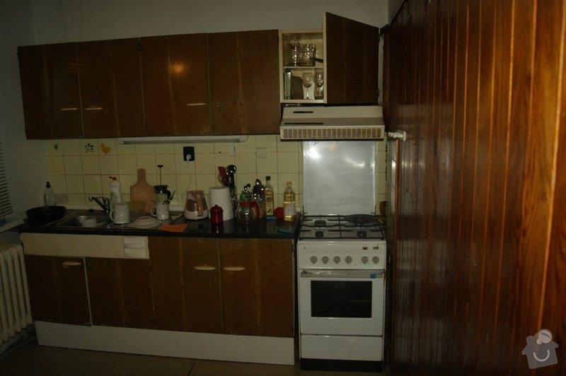 Rekonstrukce bytového jádra v paneláku Praha 5: kuchyne