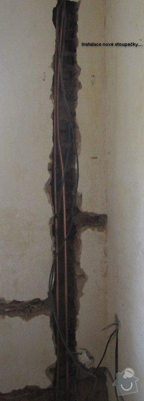 Výměna stoupačky topení a napojených těles v 4 patrovém domě: Rekonstruke-2013-Stoupacka-nova