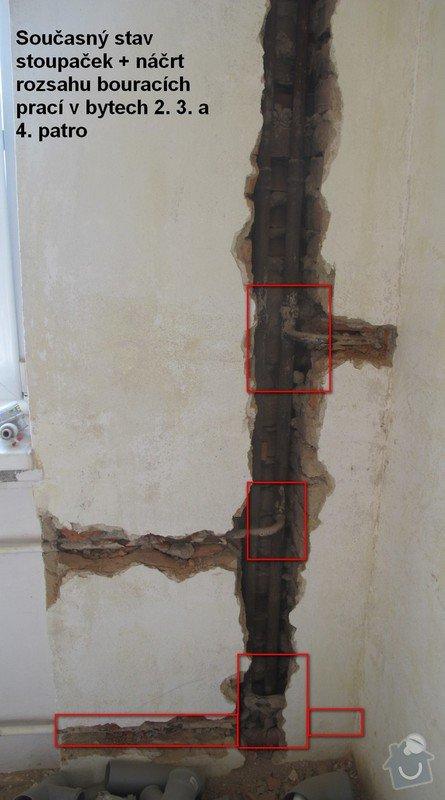 Výměna stoupačky topení a napojených těles v 4 patrovém domě: Rekonstruke-2014-Stoupacka-popis