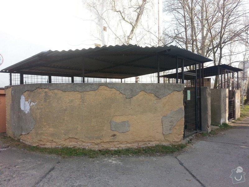 Rekonstrukce přístřešku na popelnice: 2014-03-Pristresek-popelnice-03