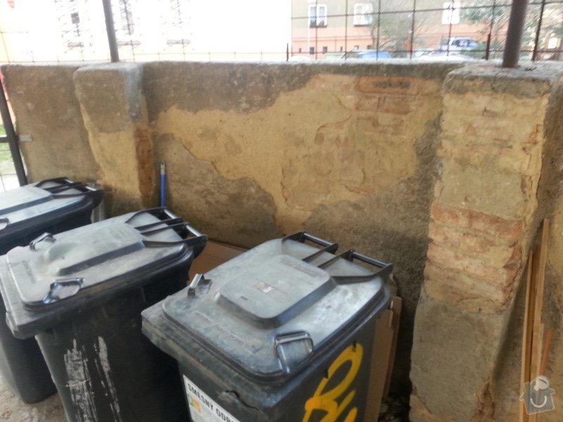 Rekonstrukce přístřešku na popelnice: 2014-03-Pristresek-popelnice-05