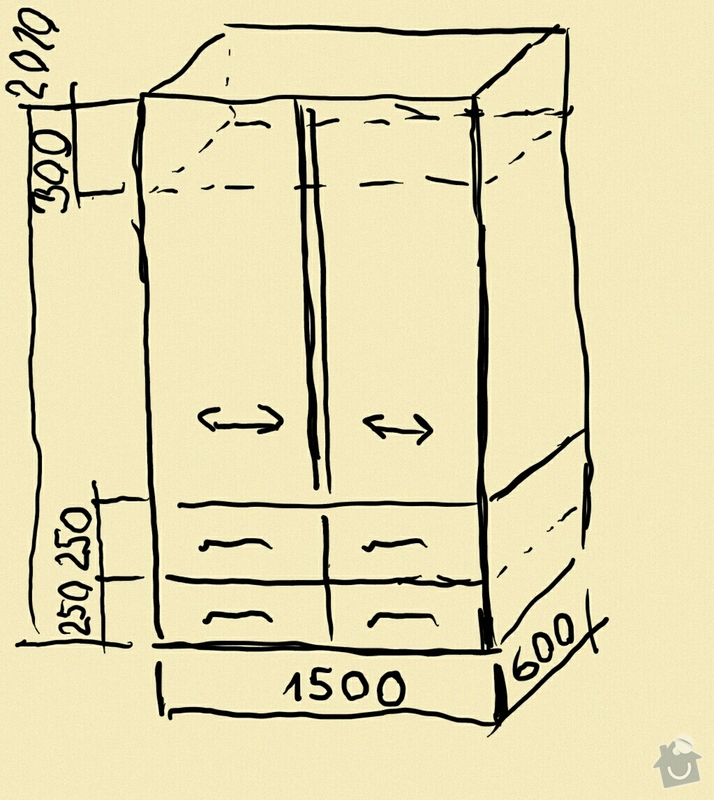 Skříně do prostoru  - 2ks: Nacrt_skrine