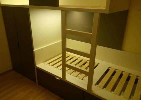 Výroba dětského pokoje, vestavěné skříně + malování