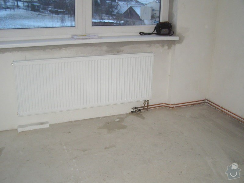 Montáž ústředního topení a plynového kotle: P2040034