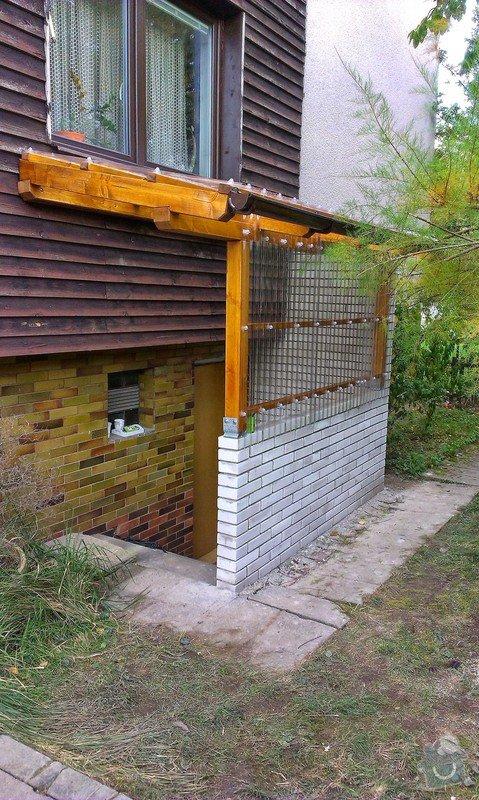 Instalace přístřešku k zadnímu vchodu rodinnému domu: IMAG0739