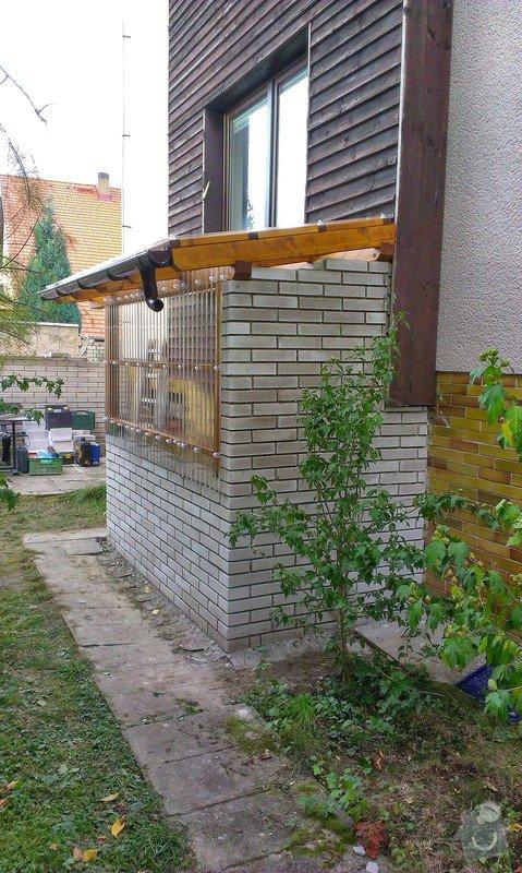 Instalace přístřešku k zadnímu vchodu rodinnému domu: IMAG0741