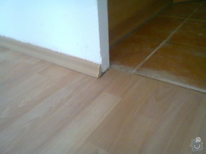 Pokládka pl. podlahy, malířské práce: Fotografie0171