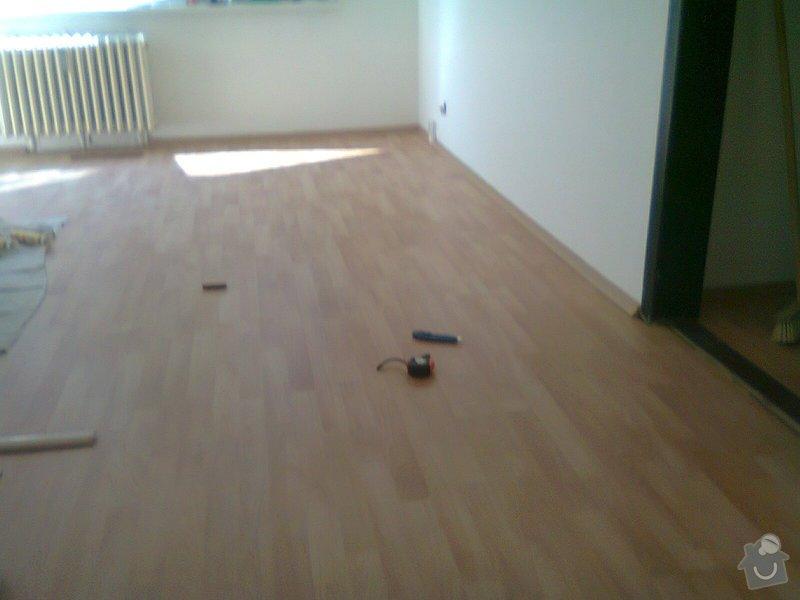 Pokládka pl. podlahy, malířské práce: Fotografie0169