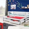 Drevena postel jednoluzko 200x90cm s pristylkou a uloznym pro postel 3