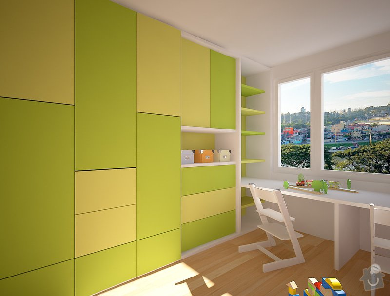 Dětský pokojíček- skříně, postele: Velebni_007