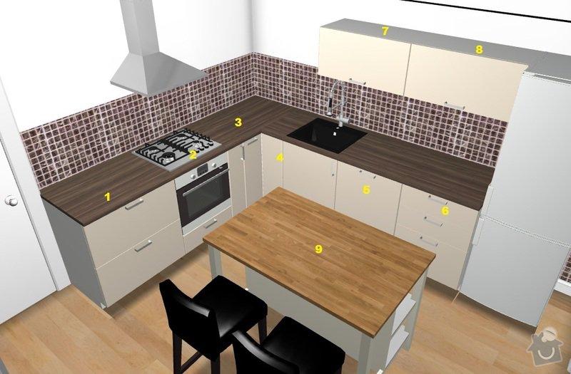 Výroba a montáž kuchyňské linky: vizualizace1