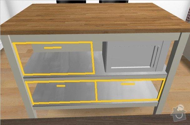 Výroba a montáž kuchyňské linky: vizualizace2