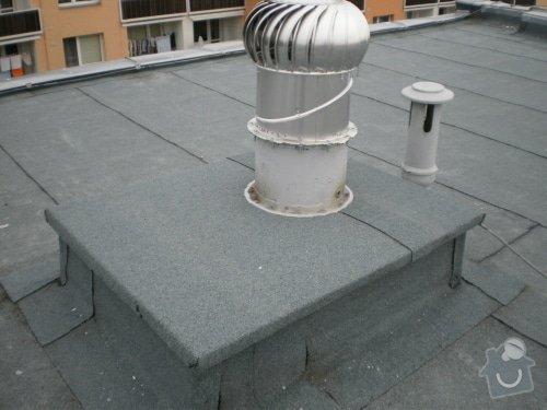 Hydroizolace střechy, oprava chodníku, fasády: 20111019_13
