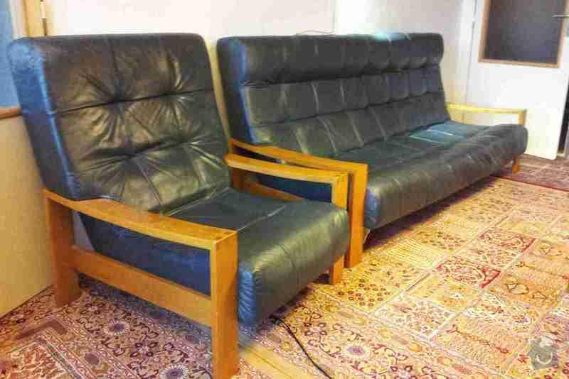 Renovaci výplně kožené 3-místné sedačky a 2 křesel: 20141023_095616