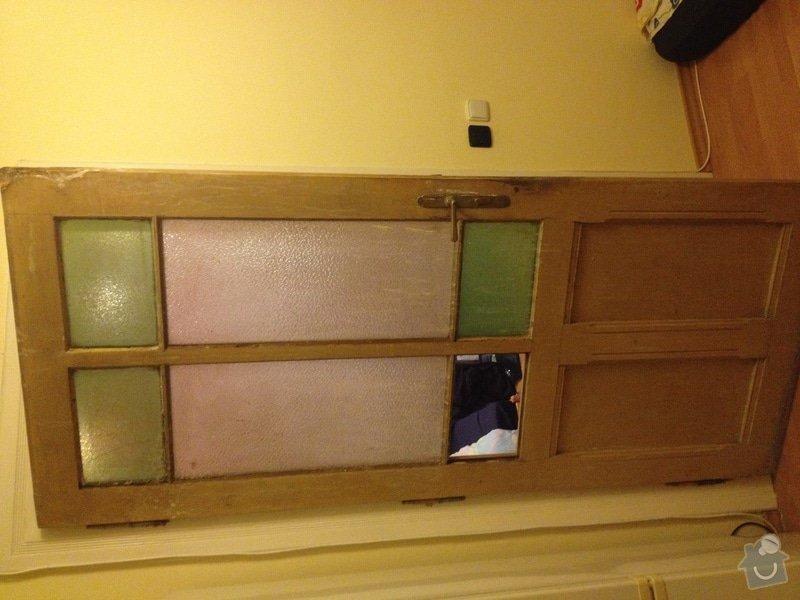 Oprava (zasklení, vykytování) a nalakování dveří 220x95 cm: IMG_2865