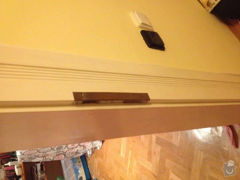 Oprava (zasklení, vykytování) a nalakování dveří 220x95 cm: IMG_2876