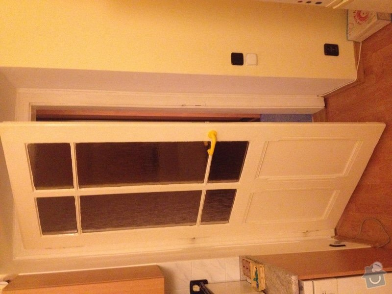 Oprava (zasklení, vykytování) a nalakování dveří 220x95 cm: IMG_2874