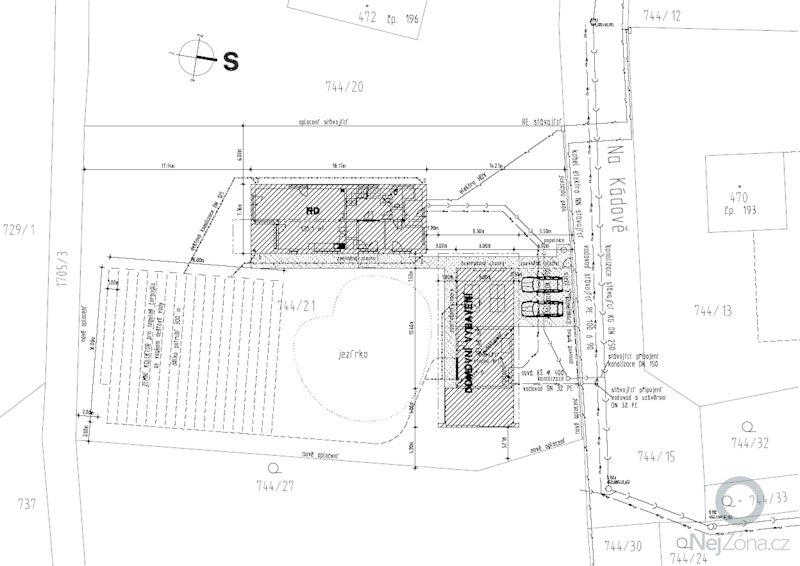 Projekt RD pro stavební povolení: situace