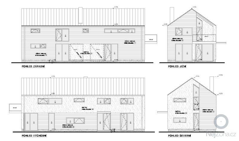 Projekt RD pro stavební povolení: RD_pohledy