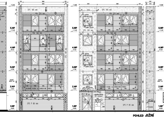 Projekt zateplení stávajícího panelového bytového domu
