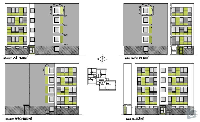 Projekt zateplení stávajícího panelového bytového domu: 03_pohledy_navrh_barevneho_reseni