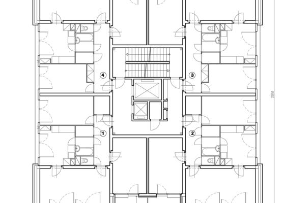 Projekt kompletního zateplení panelového bytového domu s rozšířením stávajících lodžií