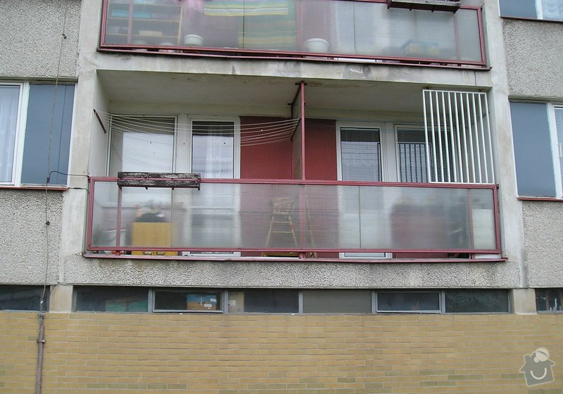 Projekt kompletního zateplení panelového bytového domu s rozšířením stávajících lodžií: 08a